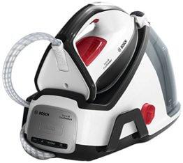 Bosch EasyComfort Dampfbügelstation TDS6040, 5,8 bar Dampfdruck, 380g Dampfstoß, kein Vorsortieren, eine Einstellung für alle Textilien, Abschaltautomatik, 2.400 Watt, schwarz/weiß - 1