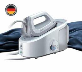 Braun CareStyle 3 IS 3042/1 Dampfbügelstation, 2.400 W, 5,5 bar, Dampfstoß: 330 g/min, Abnehmbarer 2 l Wassertank, Integrierter Textilschutz, Eco-Funktion, Weiß - 1