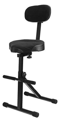 Classic Cantabile ST-200 PRO Stehhilfe Stehstuhl Stehsitz Bügelstuhl (massives Stahlgestell, Gummifüßen, Sitzhöhe 5-Stufig, 57-81 cm einstellbar, Sitzfläche BxHxT: 41 cm x 8,5 cm x 37 cm) - 1