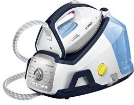 Bosch Serie 8-Zentrum von Bügeln, Funktion iTemp und ECO Funktion, 2400W, Weiß und Blau - 1