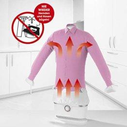 CLEANmaxx automatischer Hemdenbügler | Bügler für Hemden & Blusen, Bügelautomat | Bügelpuppe mit zwei Bügelprogrammen [1800 Watt/weiß] - 1