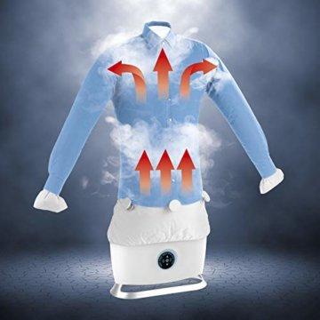 CLEANmaxx automatischer Hemdenbügler mit Dampffunktion Version 2019   Bügler für Hemden & Blusen, Bügelautomat   Bügelpuppe mit zwei Bügelprogrammen [1800 Watt/weiß] - 2