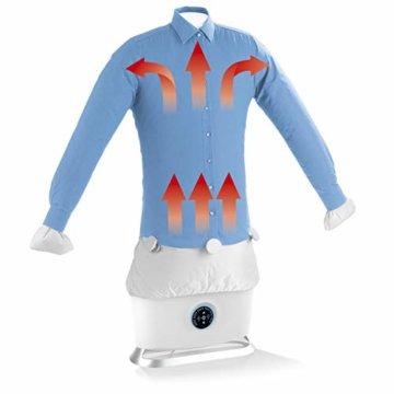 CLEANmaxx automatischer Hemdenbügler mit Dampffunktion Version 2019   Bügler für Hemden & Blusen, Bügelautomat   Bügelpuppe mit zwei Bügelprogrammen [1800 Watt/weiß] - 1