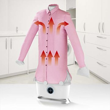 CLEANmaxx automatischer Hemdenbügler mit Dampffunktion Version 2019   Bügler für Hemden & Blusen, Bügelautomat   Bügelpuppe mit zwei Bügelprogrammen [1800 Watt/weiß] - 5