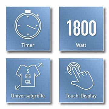 CLEANmaxx automatischer Hemdenbügler mit Dampffunktion Version 2019   Bügler für Hemden & Blusen, Bügelautomat   Bügelpuppe mit zwei Bügelprogrammen [1800 Watt/weiß] - 7