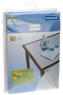 Wenko 1025111100 Tischbügeldecke Alu - extra stark, dampfbügelgeeignet, Baumwolle, 75 x 125 cm - 1