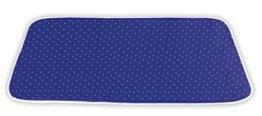 WENKO Dampf-Bügeldecke, Baumwolle, 130 x 65 cm, blau - 1