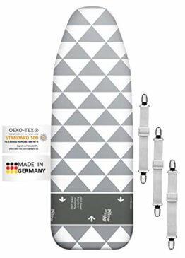 arteneur® - Made in Germany High Speed Bügelbrettbezug für Dampfbügeleisen 120x40 - Bügeltischbezug mit Gleitzone und Thermo Reflect Alu Beschichtung für Dampf- & Hitzereflexion - 1