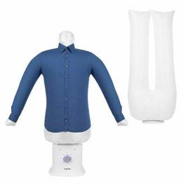 Klarstein ShirtButler Deluxe automatisches Trocken- und Bügelgerät, 2-in-1: Trocknen und bügeln, 1250 W Sicherheits-Heizer, HotAir Tension-Technologie, Timer: 0-180 Min. Material: Oxford-Nylon, weiß - 1